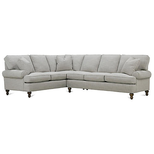 Cindy Left-Facing Sectional, Putty