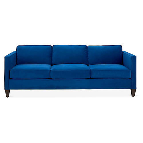 Cecilia Sofa, Royal Blue Velvet