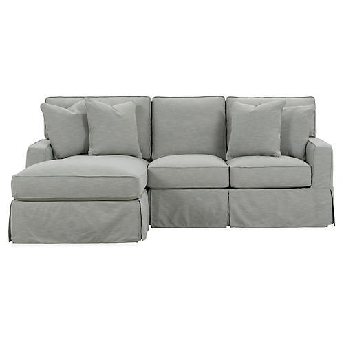 Rathel Left-Facing Sectional, Greige Crypton
