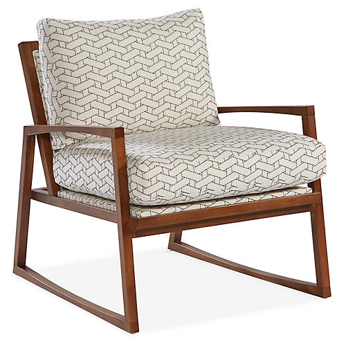 Markus Accent Chair, Sapphire Blue