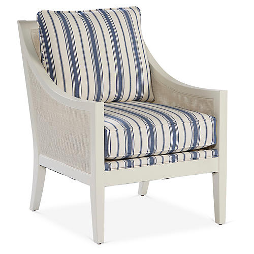 Nadia Accent Chair, Royal Blue
