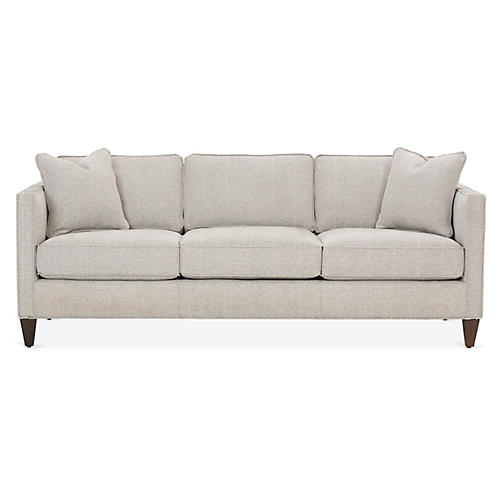 Cecilia Sofa, Black/White