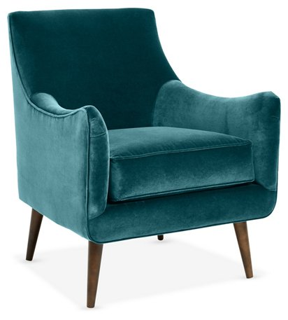 Enjoyable Oliver Accent Chair Peacock Crypton Unemploymentrelief Wooden Chair Designs For Living Room Unemploymentrelieforg