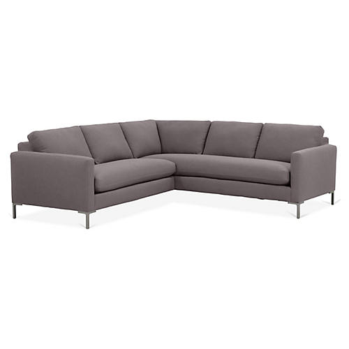 Amia Right-Facing Sectional, Charcoal Crypton