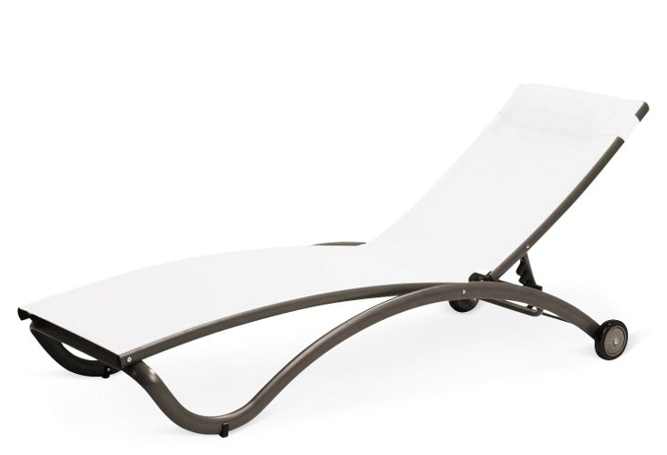 Pompano Chaise, Espresso/White
