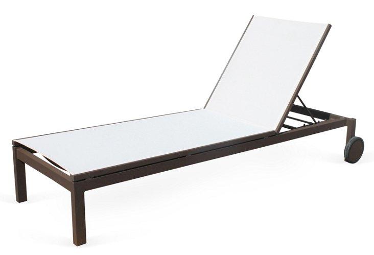 Fusion Sling Chaise, Espresso/White