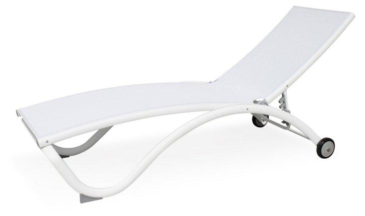 Pompano Chaise, White
