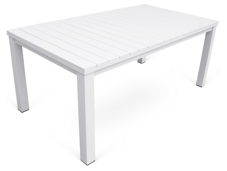 """Fusion 84"""" Dining Table, White"""