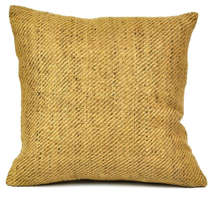 Silk Block Cushion Cover, Natural