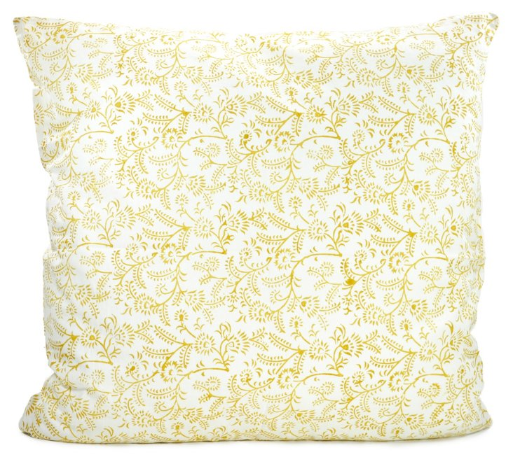 Ivy Cushion Cover, Ochre