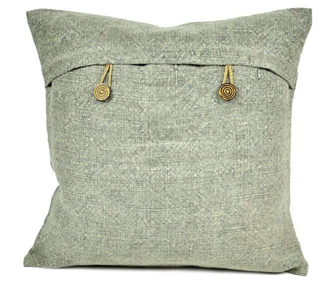 Kilim 18x18 Pillow, Gray