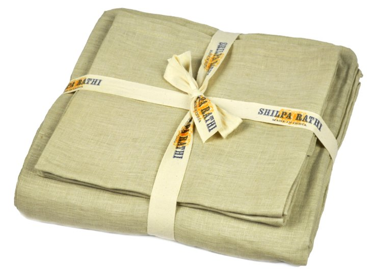 Lilo Linen Sheet Set, Sand Dollar