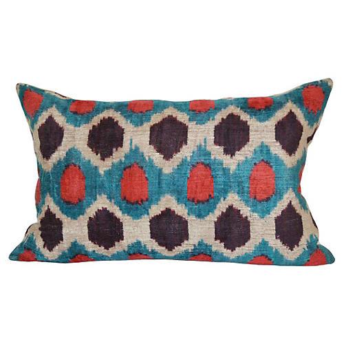 Hexagon 16x24 Silk-Blend Pillow, Multi