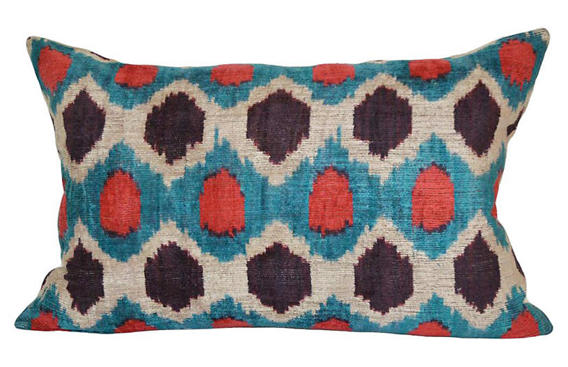 Hexagon 16x24 Silk-Blend Pillow - Orientalist Home