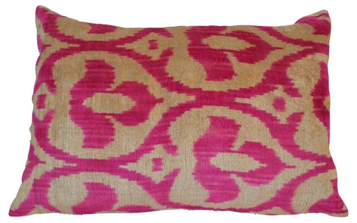 Ottoman 16x24 Silk-Blend Pillow, Pink