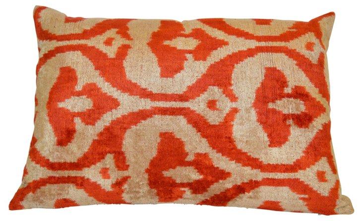Empire 16x24 Silk-Blend Pillow, Orange