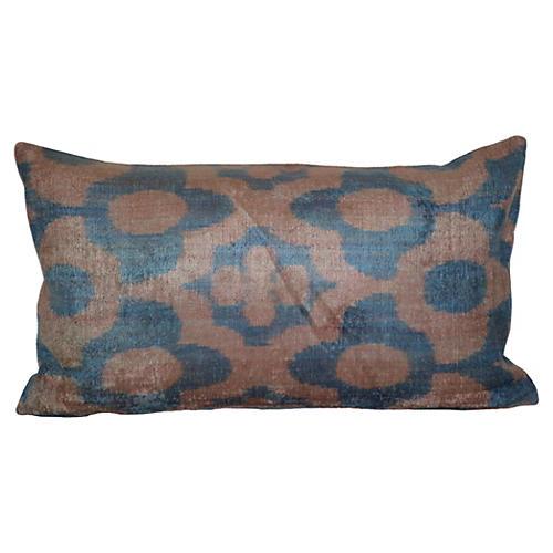 Berk 16x24 Silk Pillow, Blue