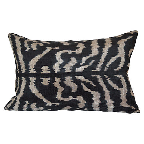 Beyoglu 16x24 Ikat Pillow, Black