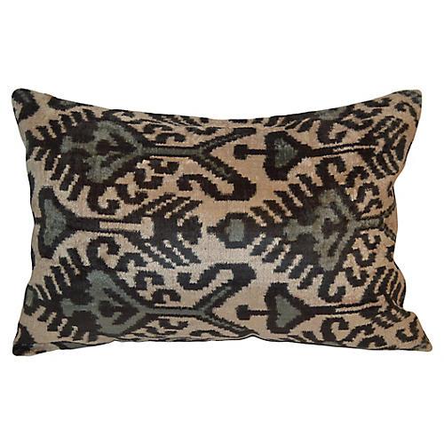 Kina Ikat 16x24 Pillow, Beige