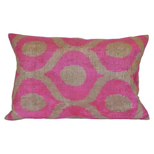 Andrea Ikat 16x24 Pillow, Pink