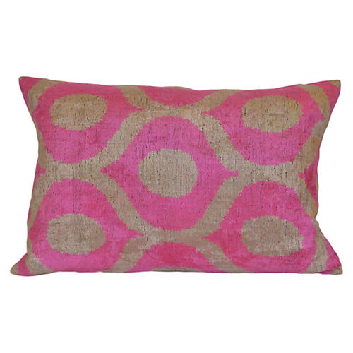 Andrea Ikat 16x24 Pillow, Pink