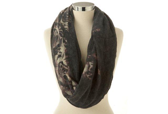 Black-Label Silk Alpaca Shawl, Coal