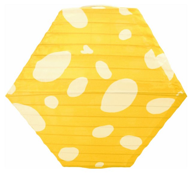 "12"" Solar Rhombus Lantern, Yellow"