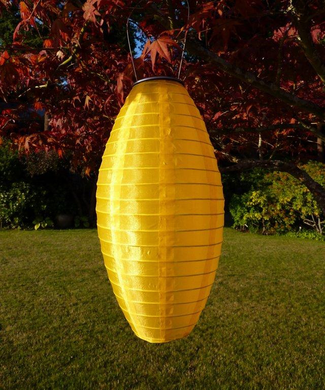 "10"" Solar Oblong Lantern, Yellow"