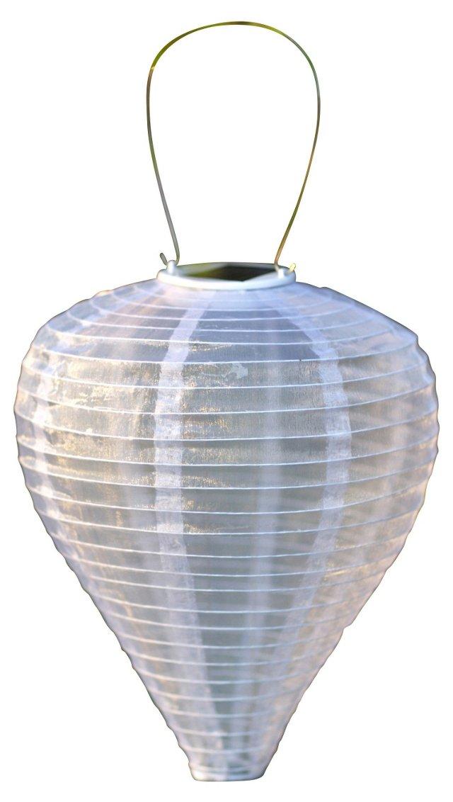 "12"" Solar Drop Lantern, Pearl"
