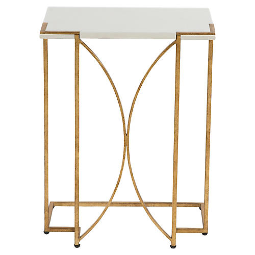 Amber C Side Table, White