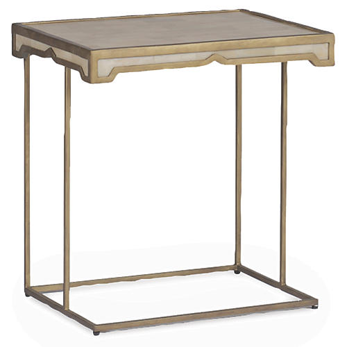 Carson Convertible Side Table, Beige