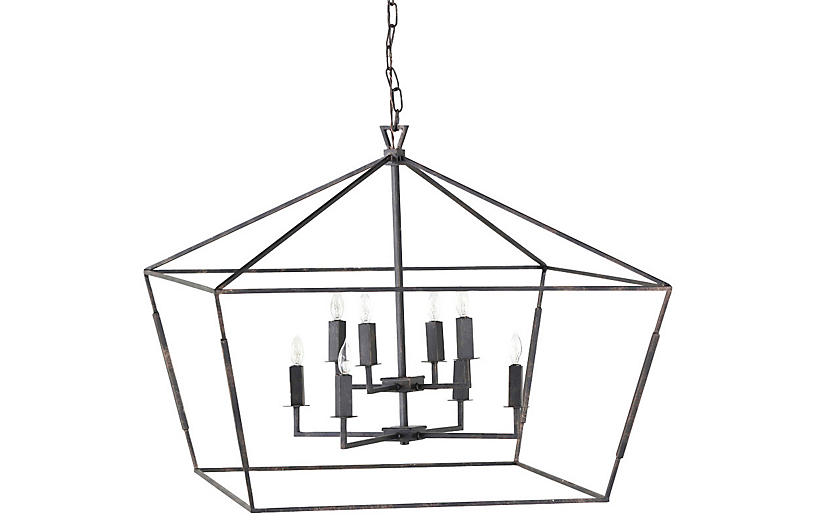 Arnold 8-Light Chandelier, Bronze