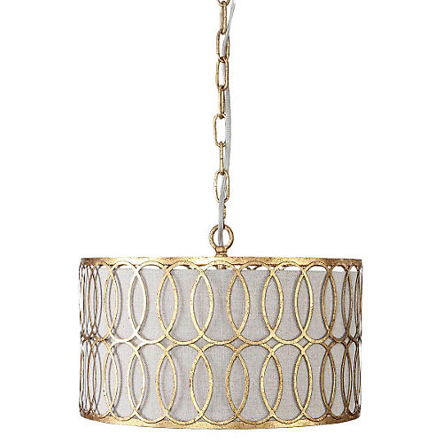 Petersen Pendant, Antiqued Gold