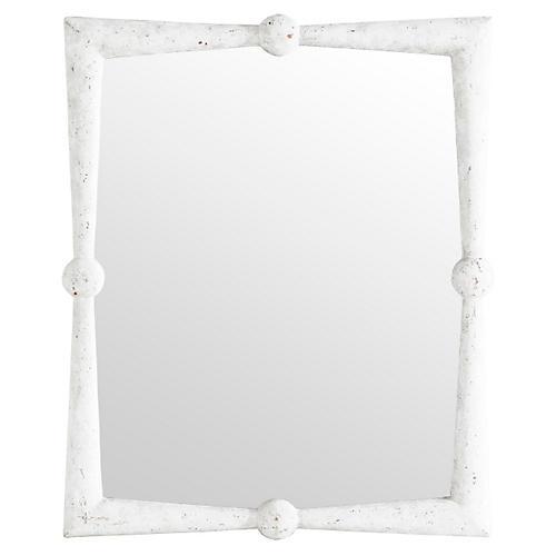 "Scarlett 40""x48"" Wall Mirror, Concrete"