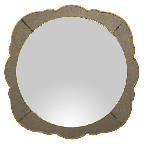 Ashton Wall Mirror, Gilded Gold