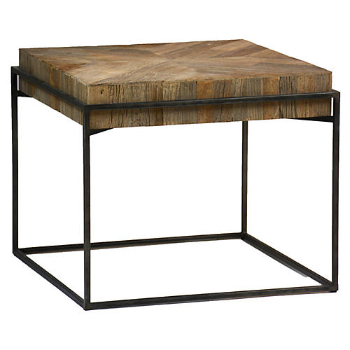 Carlyle Side Table, Elm/Black