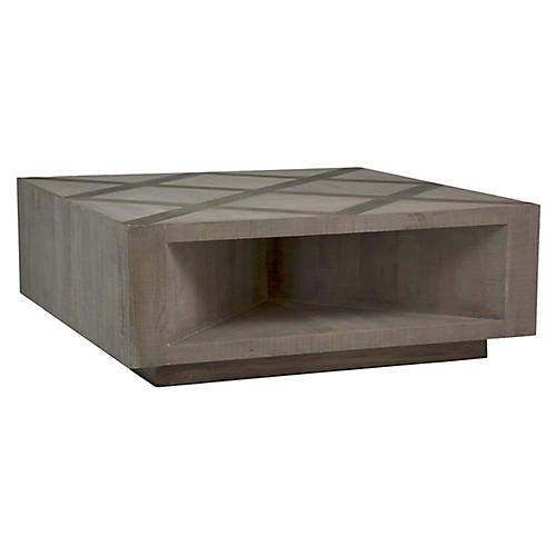 Larson Coffee Table, Gray Elm/Charcoal