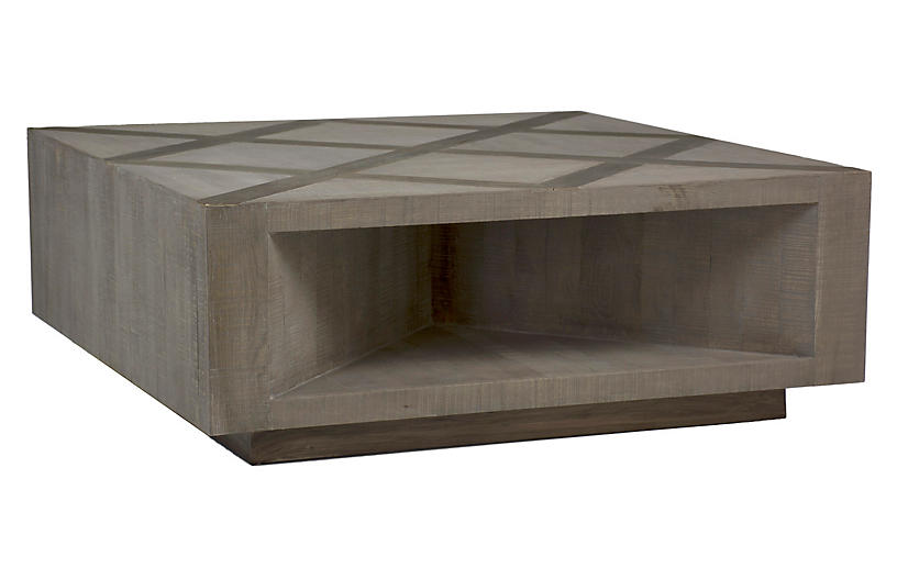 Larson Coffee Table, Gray Elm/Charcoal