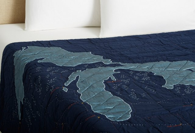 Great Lakes Quilt, Blue