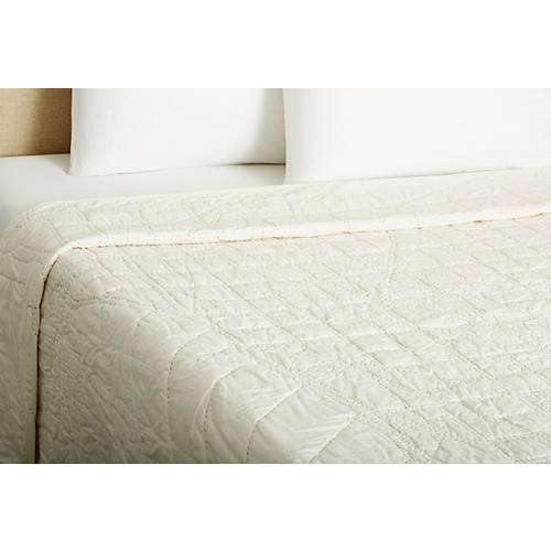 Chicago Quilt, Ivory
