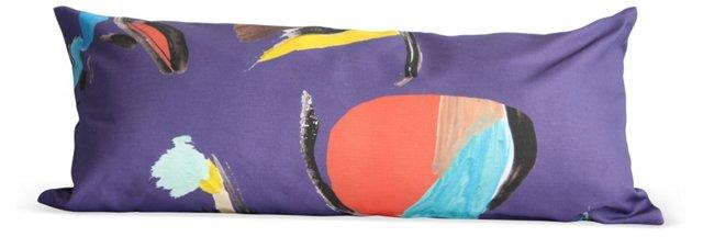 Purple Pod Rectangle Pillow