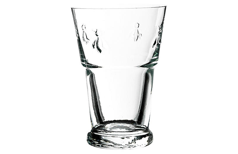 S/6 Bee Juice Glasses, Clear