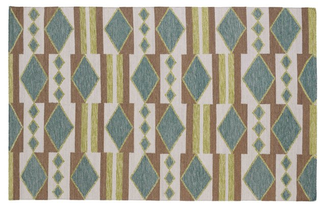 Angela Flat-Weave Rug, Wasabi