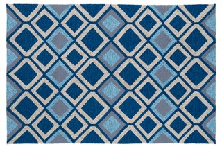 Maria Outdoor Rug Navy Multi Outdoor Rugs Rugs One Kings Lane