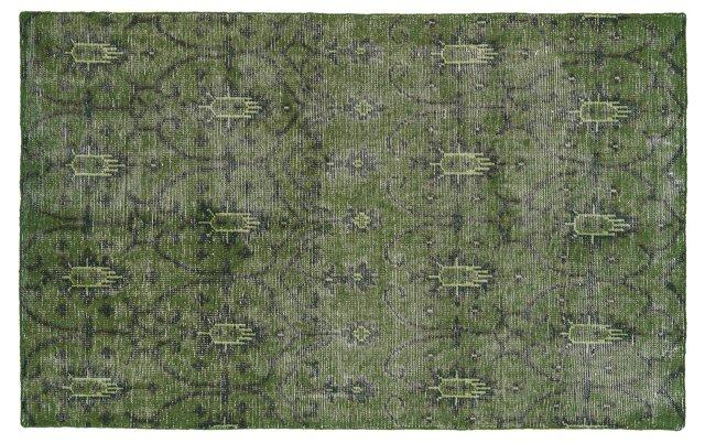 4'x6' Niko Rug, Green
