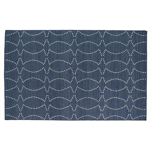 Juba Flat-Weave Rug, Gray