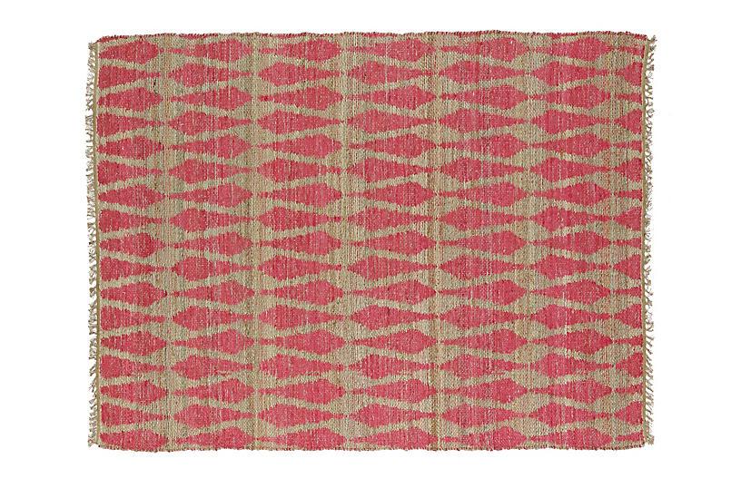 Adain Jute-Blend Rug - Pink