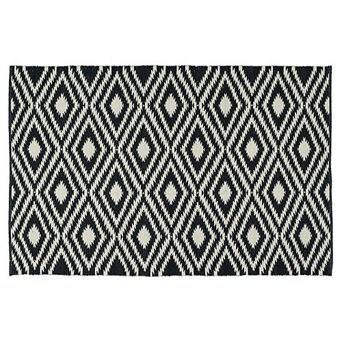 Amia Outdoor Rug, Black