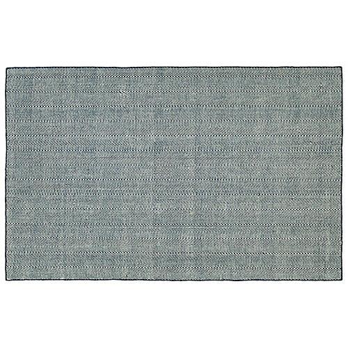 Onika Flat-Weave Rug, Navy