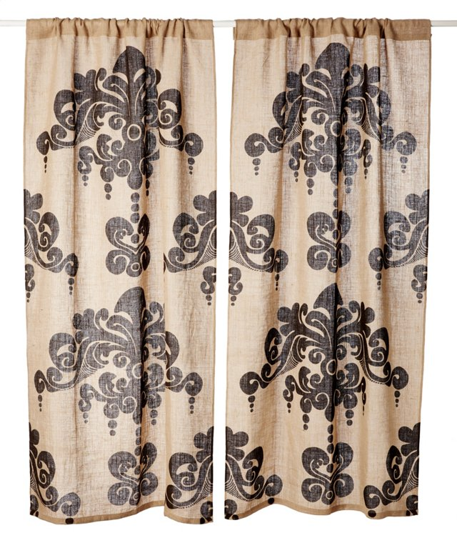 Set of 2 Enchantique Curtains, Natural
